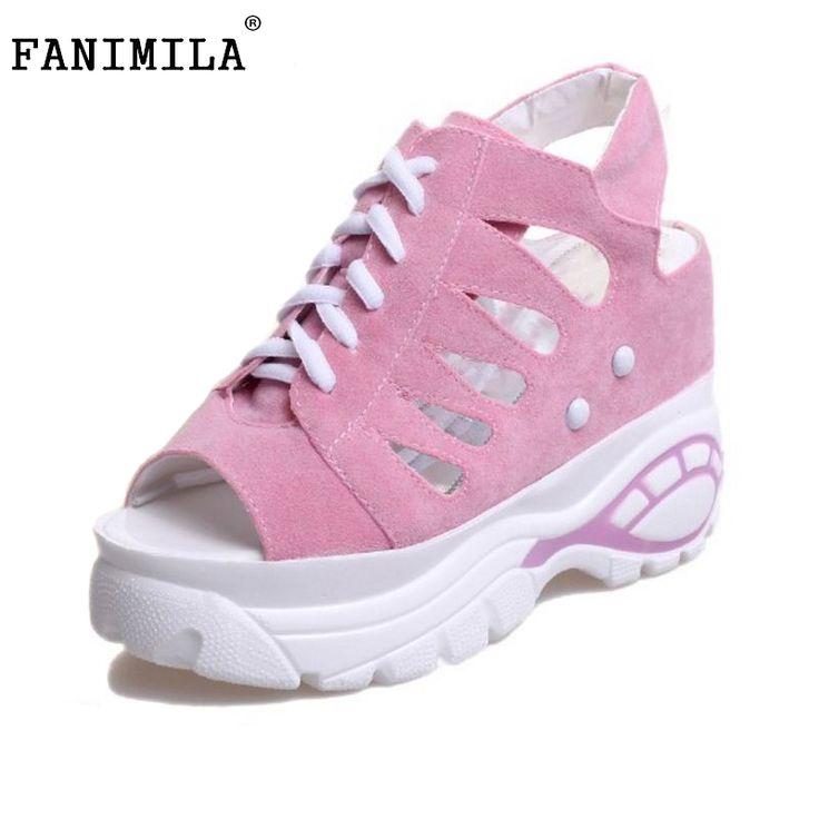 Women Wedges High Heels Sandals Fretwork Cross Strap Shoe Peep Toe Shoes Women Slingbacks Fashion Leisure Footwear Size 35-39