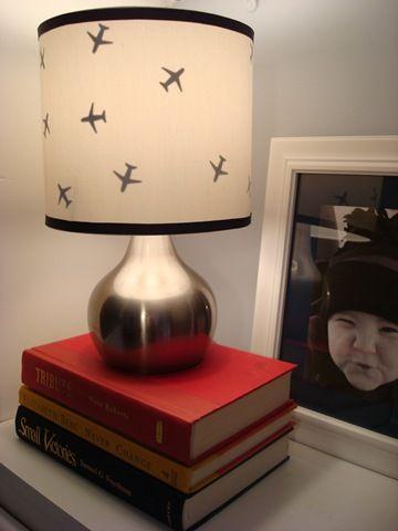 diy airplane lamp