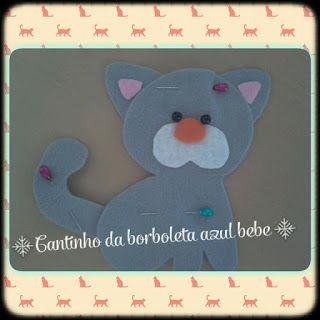 Cantinho da Borboleta Azul Bebé: Gatinho fofo I