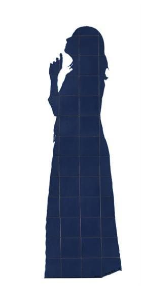 A EQUIPA DO Az / The Az Team [Patrícia Nóbrega] - Lourdes Castro | Sombra Convite | 1980-1990 | Museu Nacional do Azulejo / National Azulejo Museum | Inv. nº MNAz 7255 Az #Azulejo  #LourdesCastro #MNAz