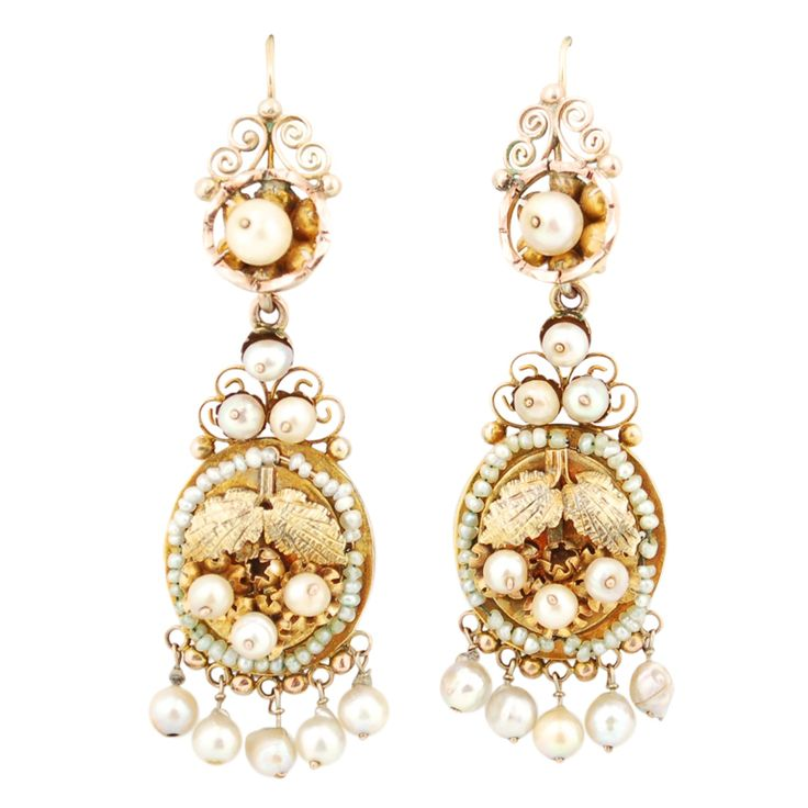 48 best mexican jewelry images on pinterest mexican jewelry large gold and natural pearls frida earrings mozeypictures Images
