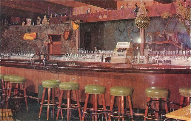 Monkey Bar at Pearl City Tavern, Pearl City, Hawaii - Oahu.  This bar and restaurant was unique.  It is a shame it closed in 1993.