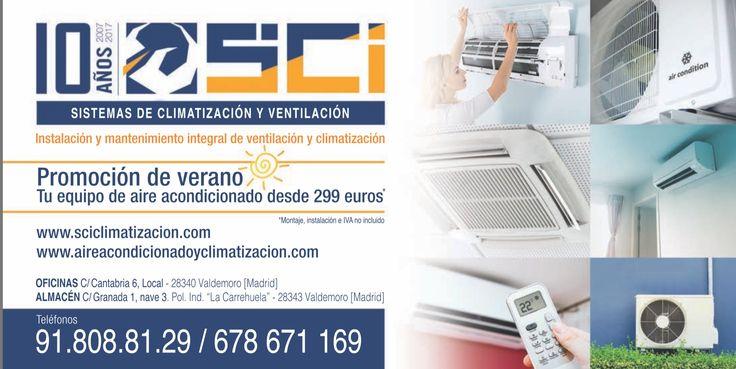 Ofertas aire acondicionado. Cumplimos 10 años. #aniversario www.sciclimatizacion.com