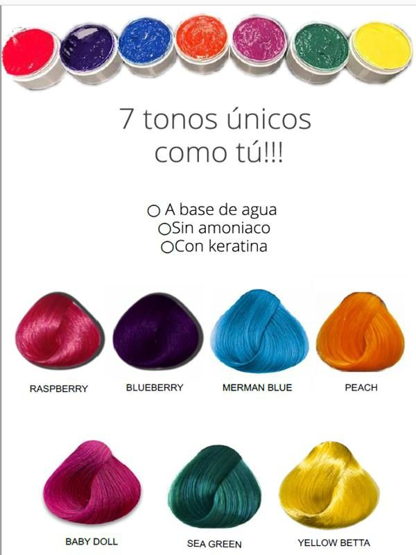 Banos De Color Color Fantasia Cabellos Colores Fantasia Banos