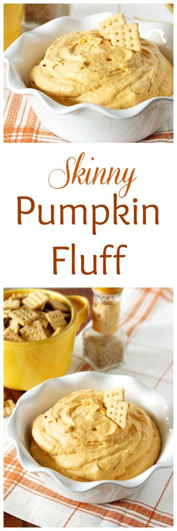 Skinny Pumpkin Fluff on www.cookingwithruthie.com is perfect with those cute…