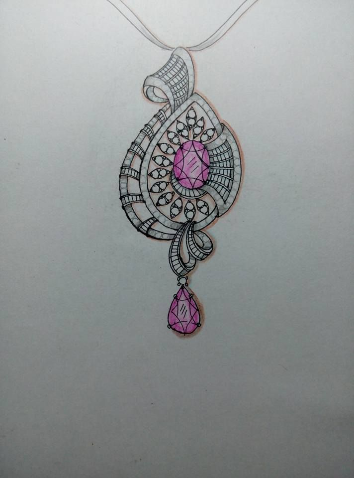 942 Best Jewellery Sketch Images On Pinterest | Jewelry Illustration Jewellery Sketches And ...