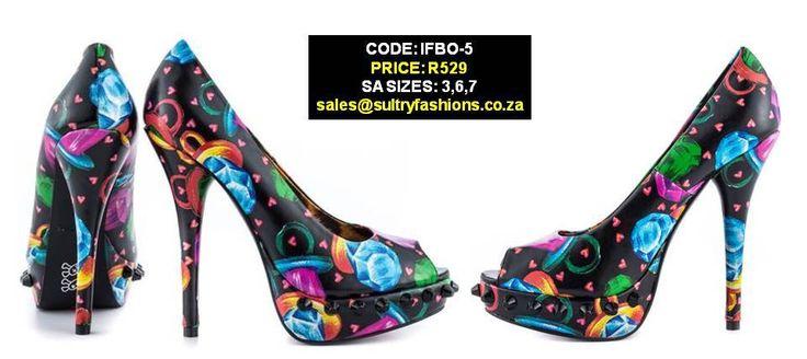 IFBO-5 Ring O Pop Peep Toe Platforms   PRICE: R529.00  SIZES: 3,6,7 sales@sultryfashions.co.za