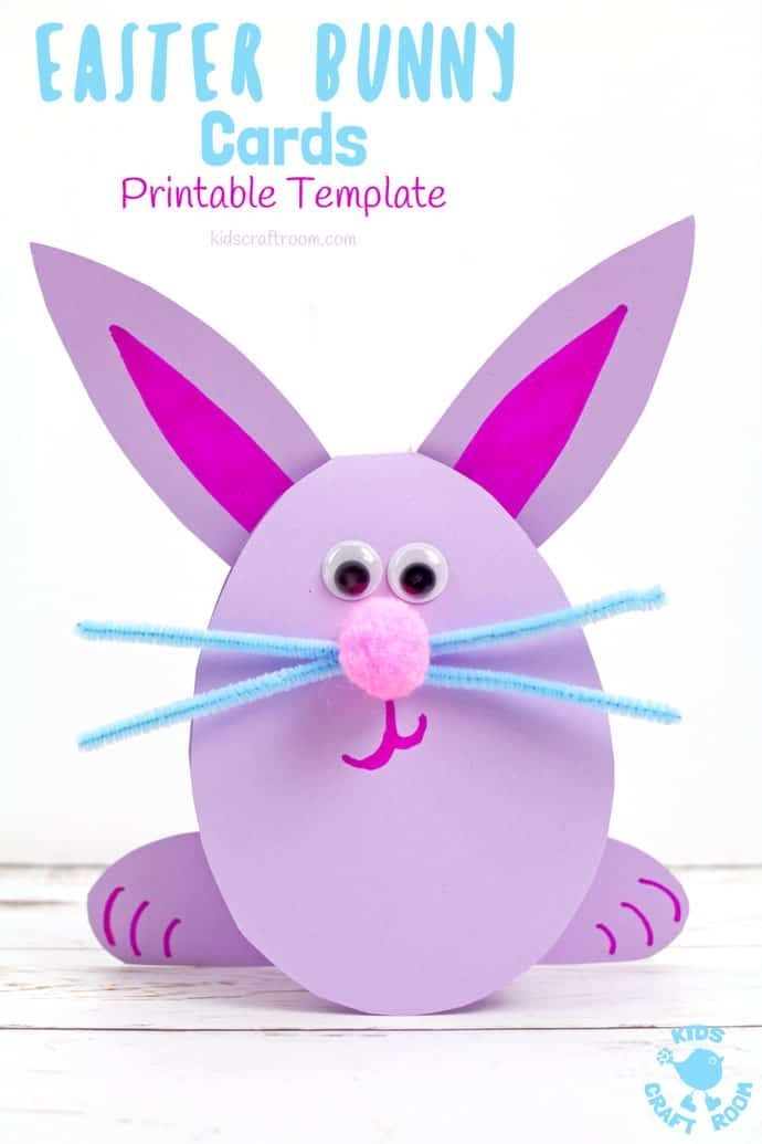 Easy Peasy Bunny Cards Easter Bunny Cards Spring Crafts For