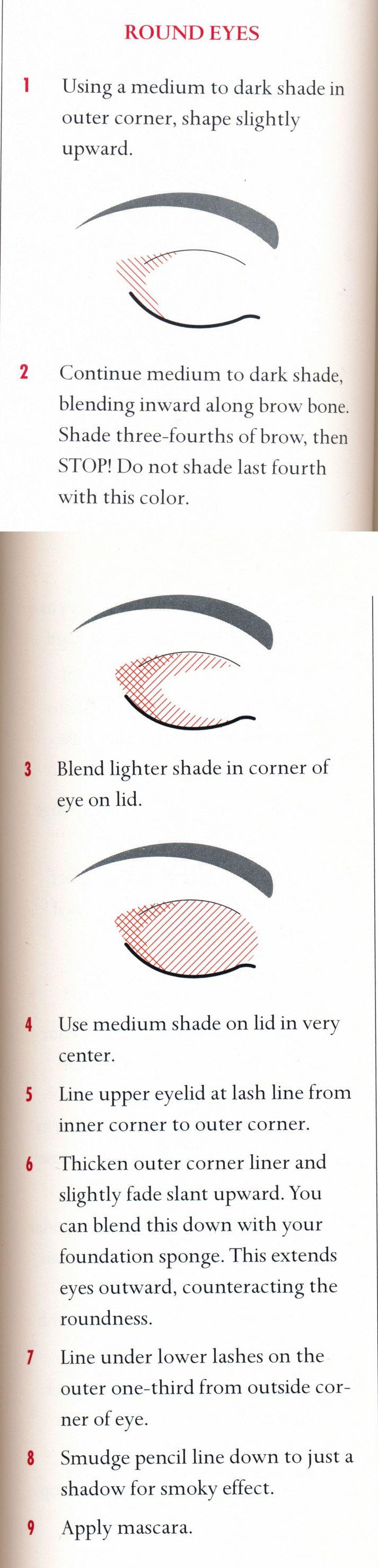 Eye make up for round eyes