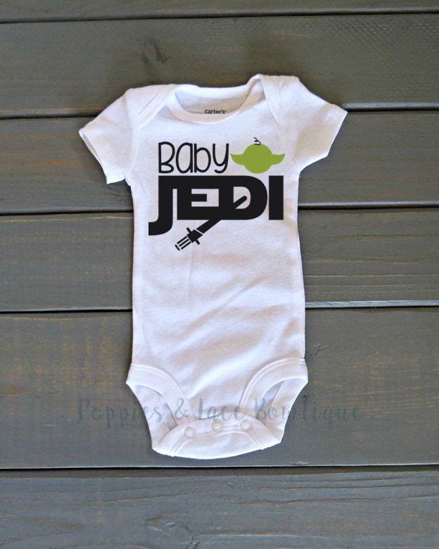 Baby Jedi Bodysuit, Funny Kids' Clothing, Baby Shower Gift, Star Wars, Jedi Shirt
