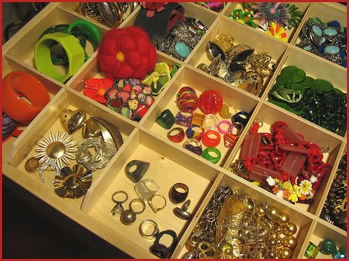 some of my jewelry collection, in a special drawer in our new wardrobe, in the bedroom.   fresh! Check it out here: http://productsreviews.ca/earrings