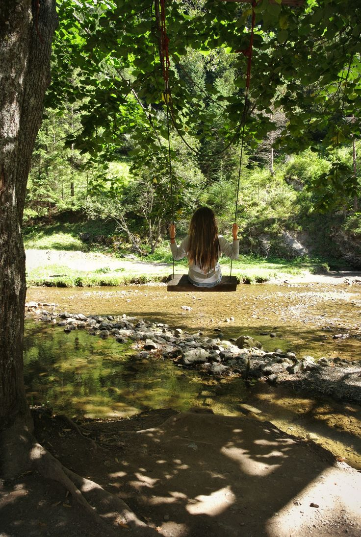 Wonderland #girl #dreadlocks #river #view #nature #tree #swing #trip