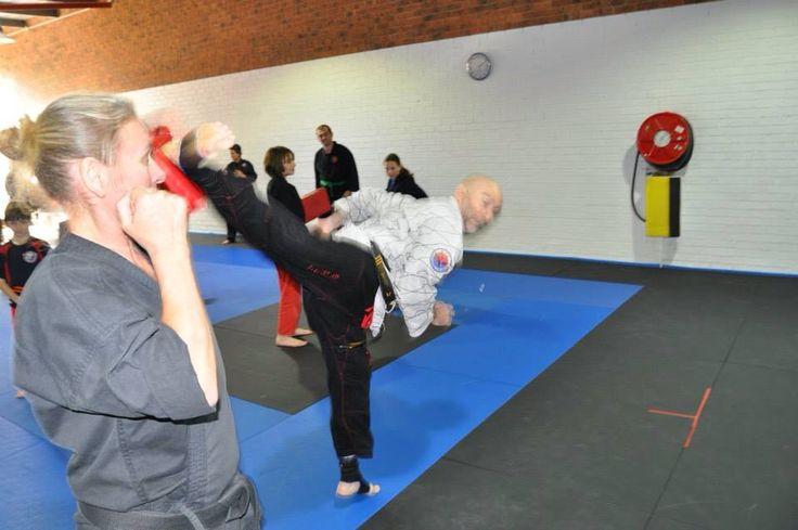Teaching a kicking seminar