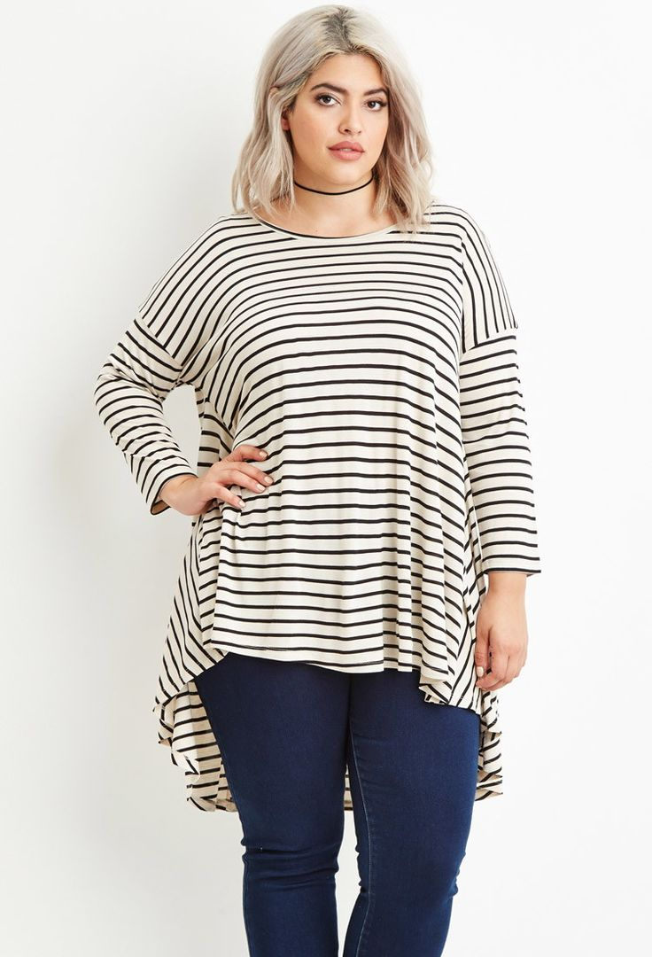 Plus Size Striped Trapeze Top | Forever 21 PLUS - 2000164914