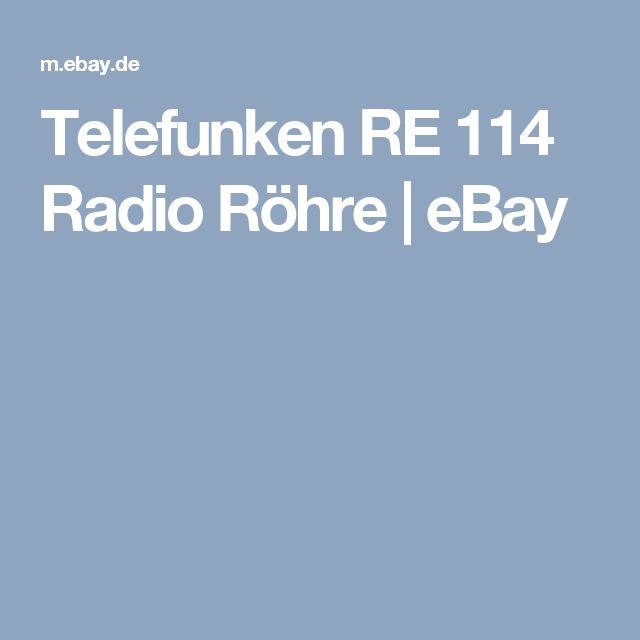 Telefunken RE 114 Radio Röhre     eBay