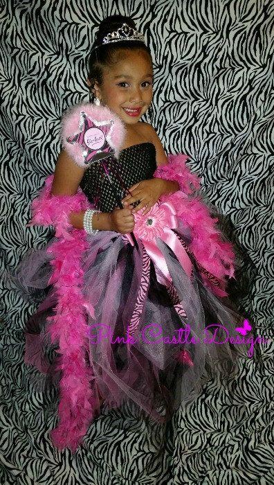 Handmade Pink Dress, Zebra Tutu Dress, Pageant Dress, Flower Girl Dress, 1st Birthday Dress, Newborn baby girl dress, Pink Zebra Dress, - pinned by pin4etsy.com