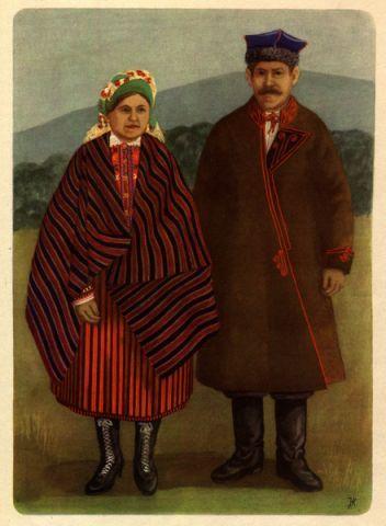 Traditional Kielce (Świetokrzyskie region) polish folk dress