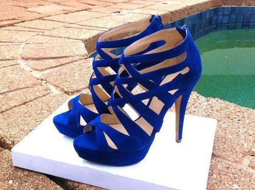 1000  ideas about Royal Blue Heels on Pinterest | Royal blue high ...