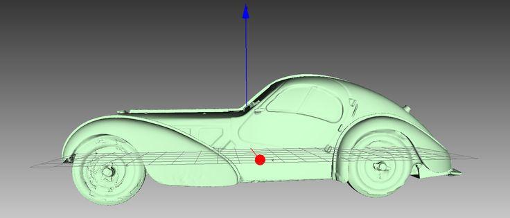 skan 3D bugatti