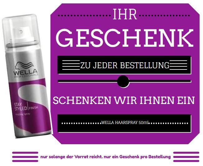 zu jeder Bestellung bekommst du #Wella #Haarspray Mini geschenkt  ++ NUR SOLANGE DER VORRAT REICHT ++