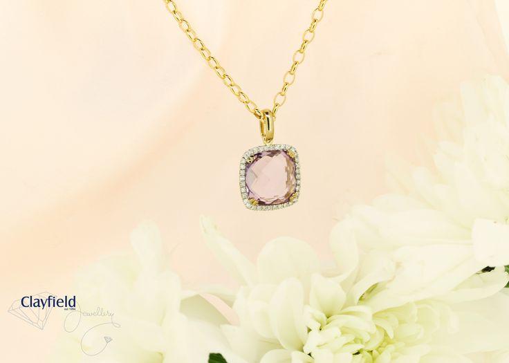 Stunning Amythest and Diamond pendant by Clayfield Jewellery in Nundah Village, North Brisbane.