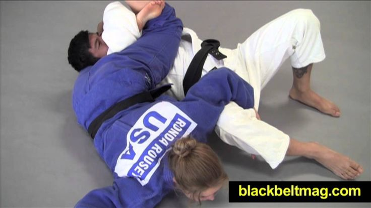 Judo Videos: Sankaku-Jime Demonstrated by Ronda Rousey, MMA Fighter and ...