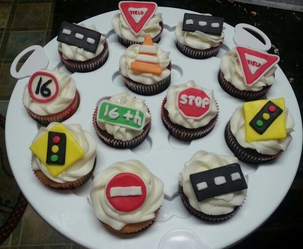 Road Sign Cupcakes For Goodness Cake By Jen Barry 16th