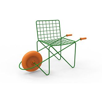 This Mobile Chair For Children Is Made Of Steel Rod And A Rotation Moulded  Wheel