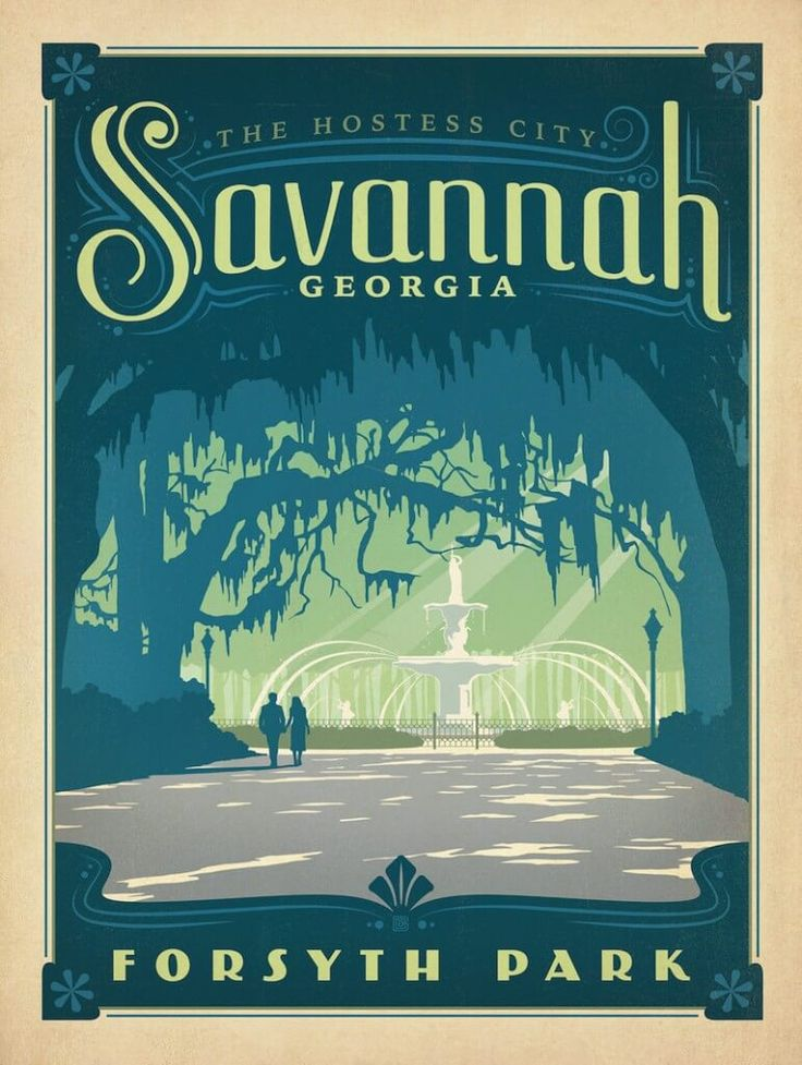 Savanna, Georgia vintage travel poster