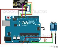 Arduino Wireless Temperature LCD Display (nRF24L01+ DHT11) | Elec-Cafe.Com