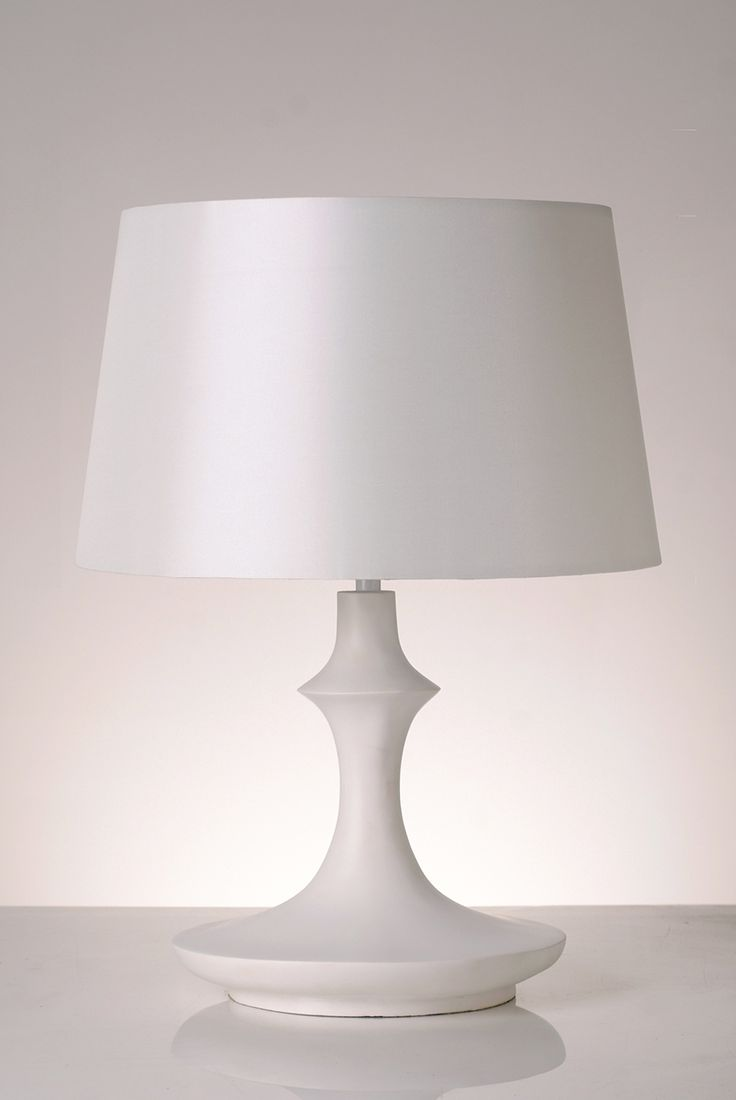 Made From White Resin With White Satin Lampshade, Our Kazakhstan White  Table Lamp Has Been