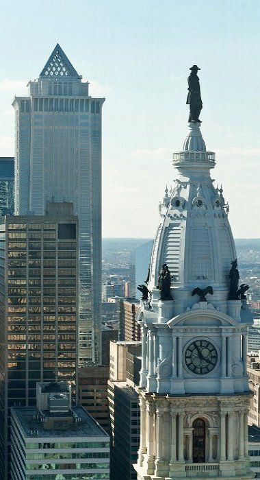 Philadelphia City Hall, with Statue of William Penn at top of Tower, Philadelphia, Pennsylvania