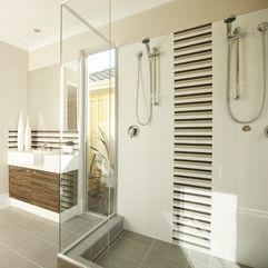 shower feature tile idea bathroom ideas pinterest