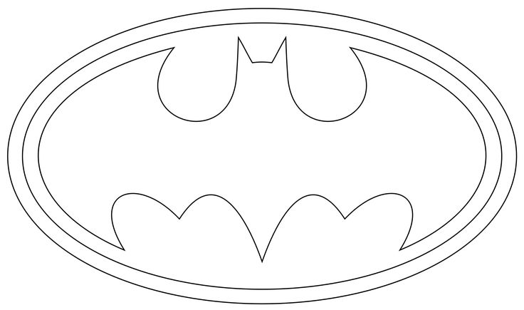 coloring pages batman printable logo - photo#4