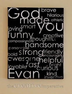 love it... one for each kid... remind them of their goodness... great idea!Ideas, Art Canvas, Subway Art, For Kids, Kids Room, Boy Rooms, Kid Rooms, Boys Room, Crafts