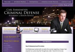 New Criminal Law Attorneys added to CMac.ws. Carl Barkemeyer - Criminal Defense Attorney in Baton Rouge, LA - http://criminal-law-attorneys.cmac.ws/carl-barkemeyer-criminal-defense-attorney/22647/