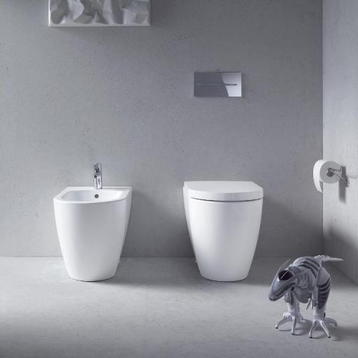 Iconisch: staand toilet en staand bidet