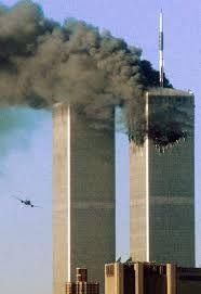 This is a 911 picture of the twin towers collapsing on september 11 2001. This was a huge struggle in democracy because terrorists attacked us and killed many people