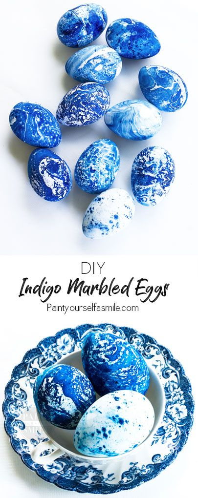 Really Fun DIY Indigo Marbled Eggs! Easy Easter Egg Craft Tutorial