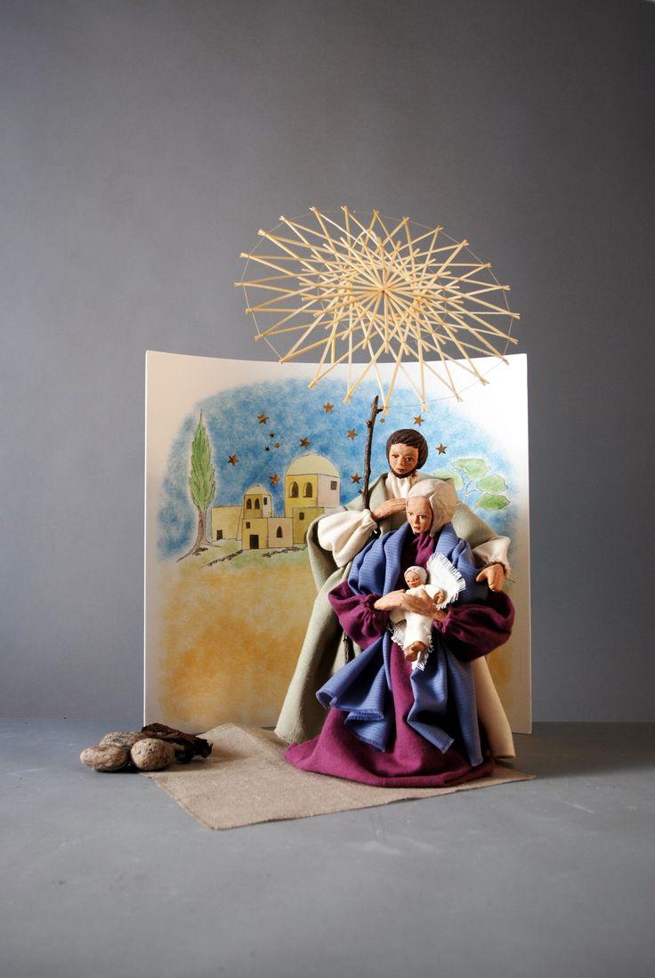 Stern über Bethlehem, 1967/68, Kulisse 2016, Figuren 28 cm, Ingrid Davids (*1937), Lüdinghausen