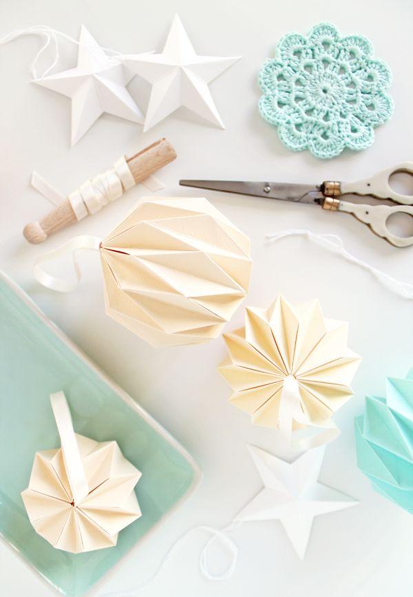 origami paper ornaments