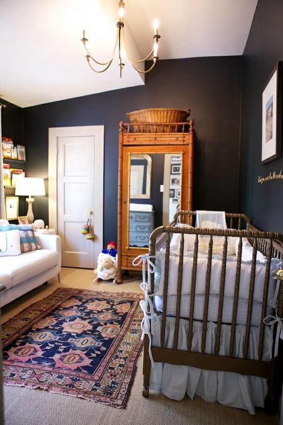 Design by LeSueur Interiors. Beautiful I wish I could have had this room when I had my babies. This room gives off warmth,security and love!!!