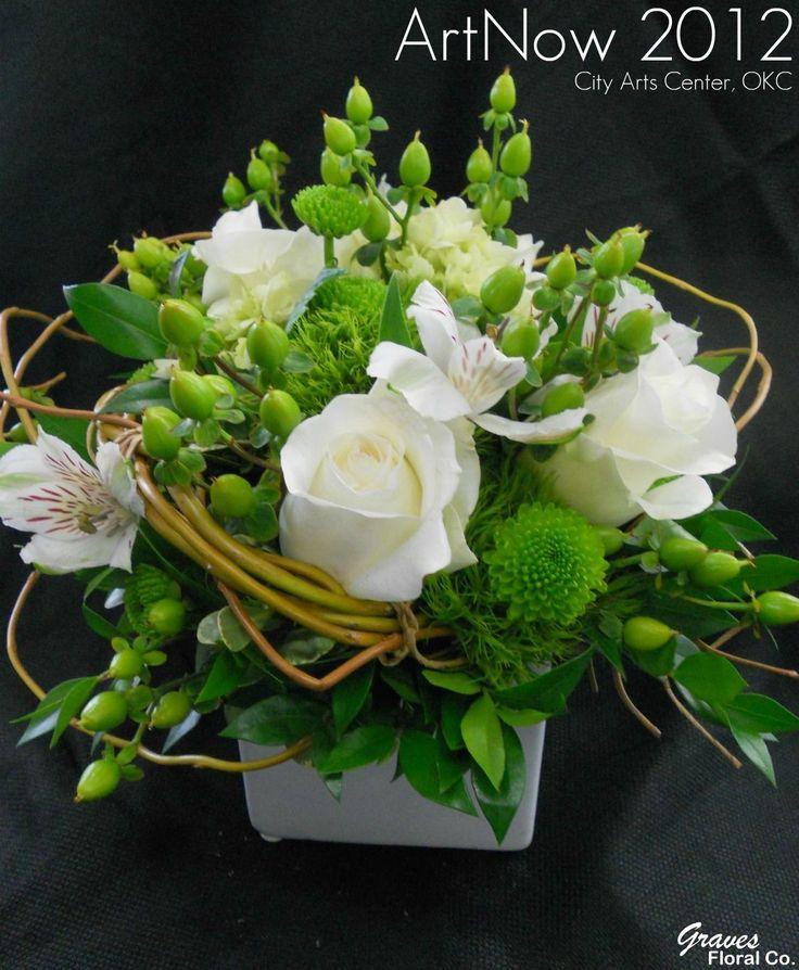 Bouquet blanc et vert