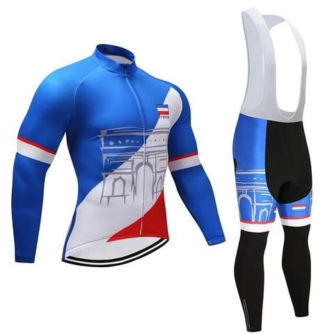 Maximum comfort on your bike for long rides with this superb Team France  race suit. f2b8f17f2