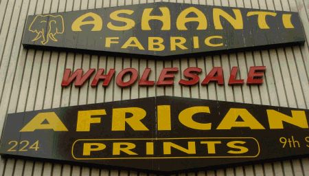 Ashanti Fabric. LA fashion district. African fabrics.