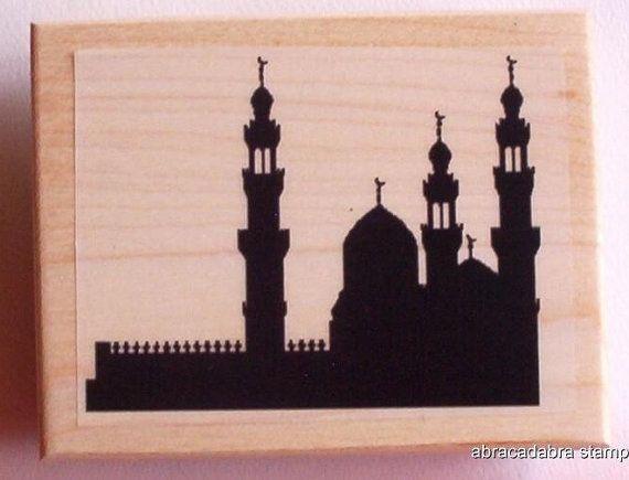 ARABIAN SKYLINE new mounted rubber stamp