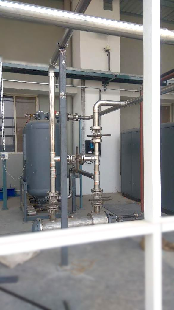 Stainless Steel Piping For Food Grade Industry Using Oil