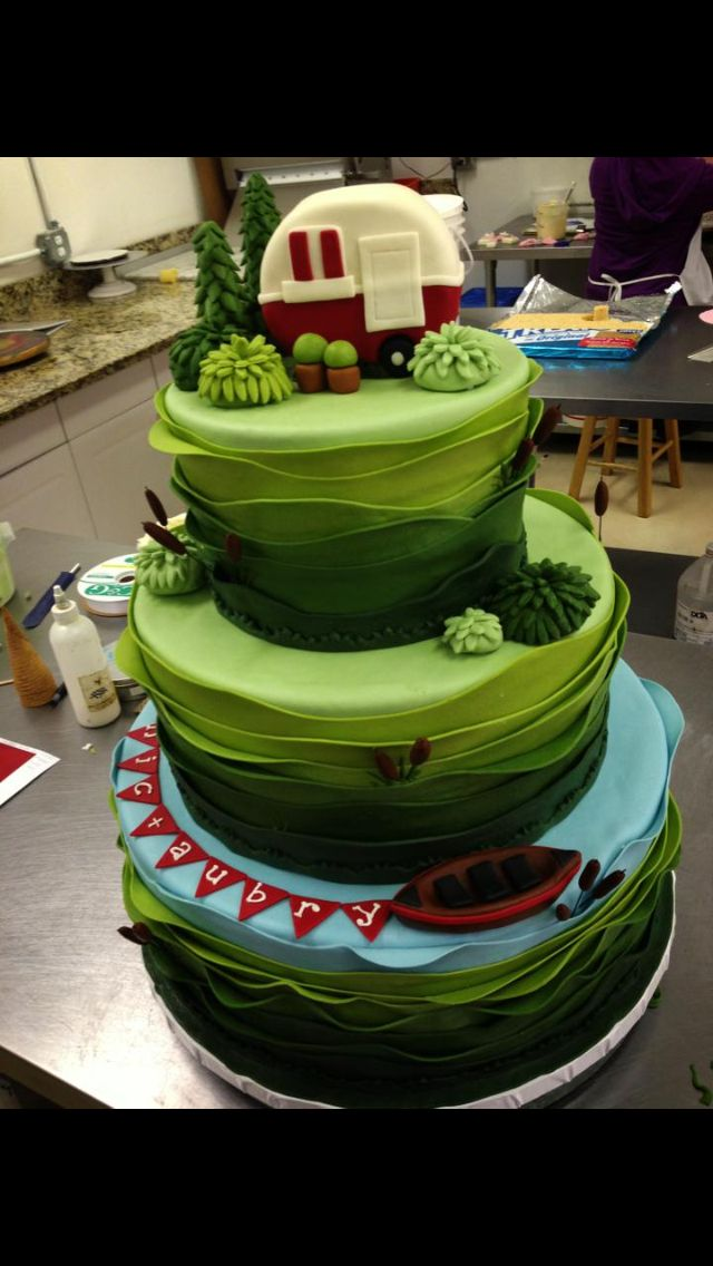 1000 Ideas About Camping Cakes On Pinterest Camping
