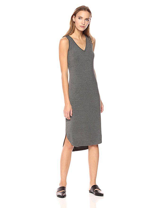 a12d6ad78ba Daily Ritual Women s Jersey Sleeveless V-Neck Dress