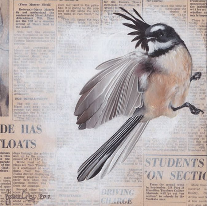 NZ's The Times by Jane Crisp. #collage imagevault.co.nz